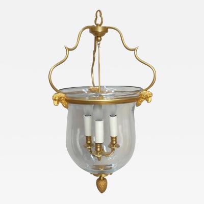 Gilt Bronze Rams Head Lantern