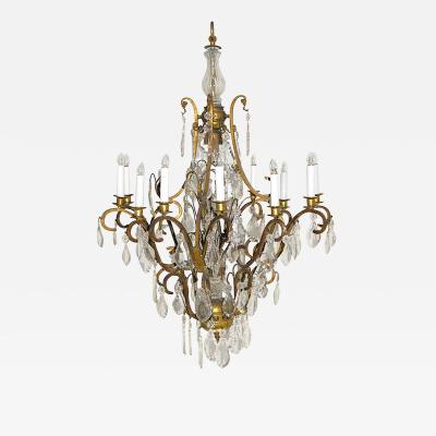 Gilt Bronze twelve light chandelier