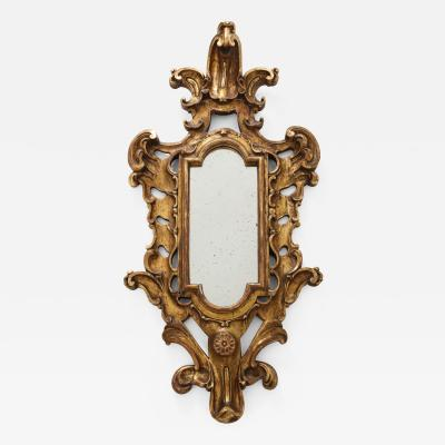 Gilt Carved Wood Baroque Mirror