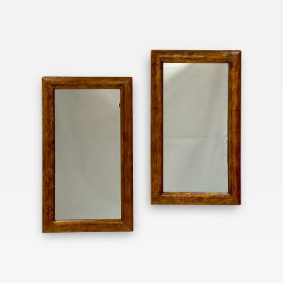 Gilt Wood Mirrors Italy 19th Century A Pair