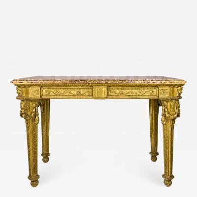 Gilt Wooden Console 18th Century Italy