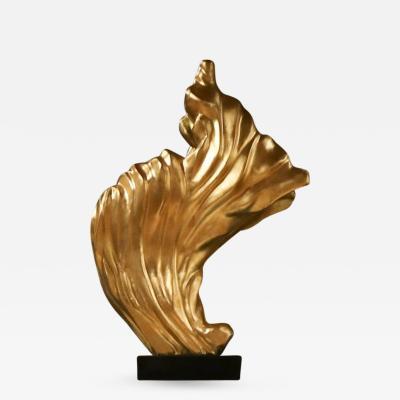 Gilt flame sculpture