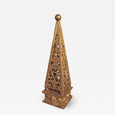Gilt wood Obelisk