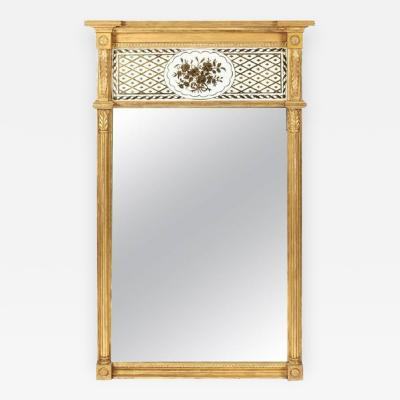 Giltwood Federal Mirror with glomis Panel