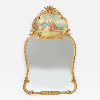 Giltwood Framed Hanging Wall Mirror