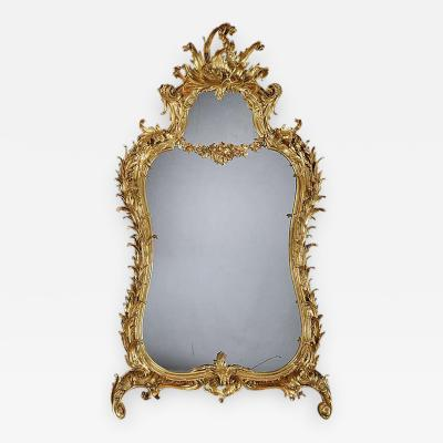 Giltwood Mirror in the Manner of Thomas Chippendale