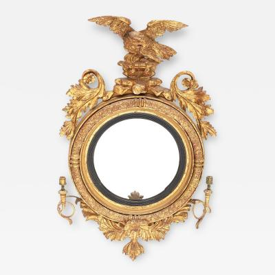 Giltwood Regency Girandole Mirror