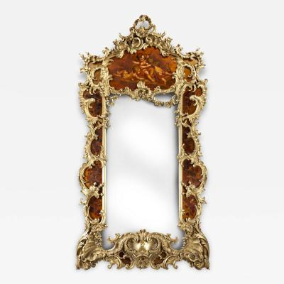 Giltwood and Vernis Martin Mirror