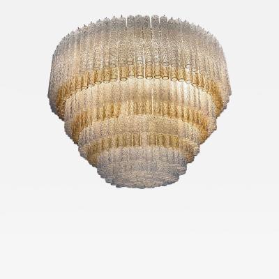 Gino Poli Monumental Murano Glass Chandelier Designed by Gino Poli for Aureliano Toso