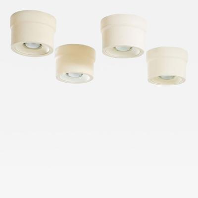 Gino Sarfatti 4 ceiling lamps by Gino Sarfatti model 3066 for Arteluce