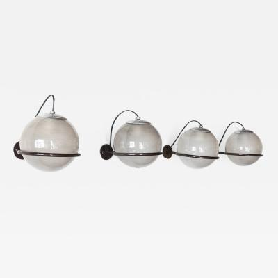 Gino Sarfatti 4 wall lights mod 238 1 for Arteluce 1960