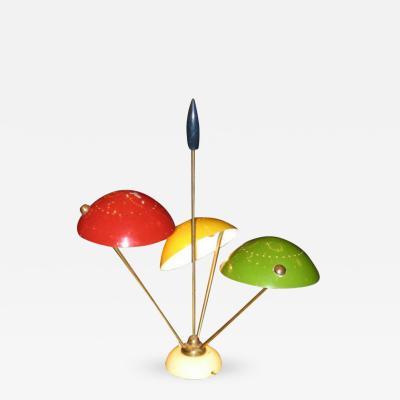 Gino Sarfatti A Very Rare Three Light Table Lamp Model 534 by Gino Sarfatti