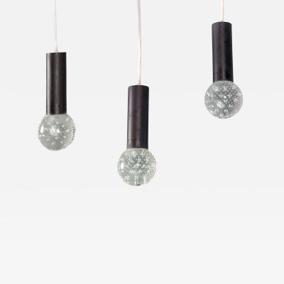 Gino Sarfatti Bubble Pendants by Gino Sarfatti and Archimede Seguso for Lightolier