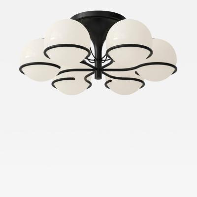 Gino Sarfatti Gino Sarfatti Model 2042 6 Ceiling Light in Black or Brass