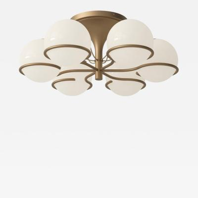 Gino Sarfatti Gino Sarfatti Model 2042 6 Ceiling Light in Brass