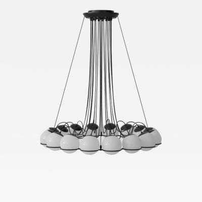 Gino Sarfatti Gino Sarfatti Model 2109 16 14 Chandelier in Black