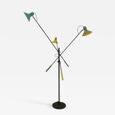 Gino Sarfatti Gino Sarfatti for ArteLuce MidCentury Floor Lamps Mod 1052 original label 1951