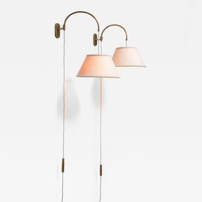 Gino Sarfatti Gino Sarfatti pair of wall lamps with counterweight Italy