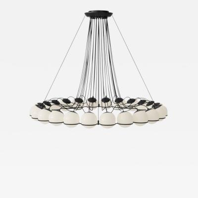 Gino Sarfatti Monumental Gino Sarfatti Model 2109 24 14 Chandelier in Black