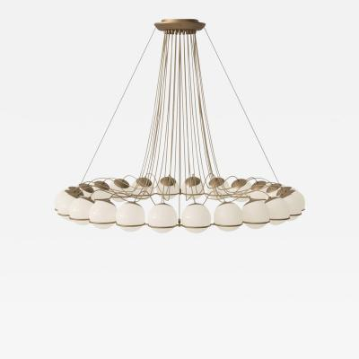 Gino Sarfatti Monumental Gino Sarfatti Model 2109 24 14 Chandelier in Brass