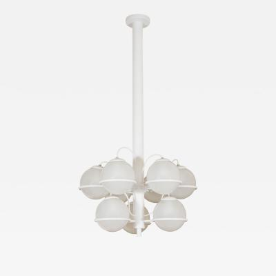 Gino Sarfatti Nine ball chandelier Model No 2042 9 by Gino Sarfatti for Arteluce