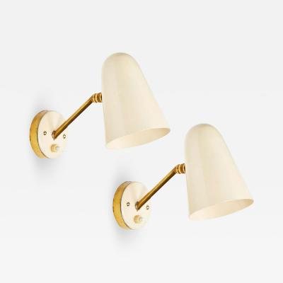 Gino Sarfatti Pair of 1950s Italian Sconces Attributed to Gino Sarfatti