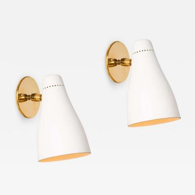 Gino Sarfatti Pair of Gino Sarfatti Perforated Cone Sconces for Arteluce circa 1950