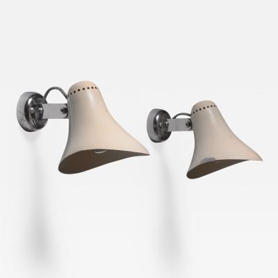 Gino Sarfatti Pair of Gino Sarfatti wall lamps