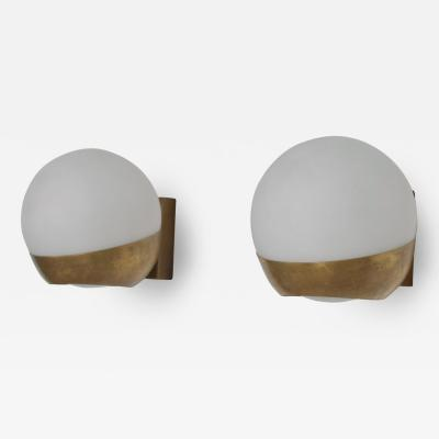 Gino Sarfatti Pair of Italian Bronze Wall Light Sconces after Gino Sarfatti