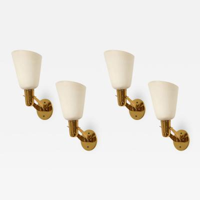 Gino Sarfatti Rare Set of 4 Sconces Model 121
