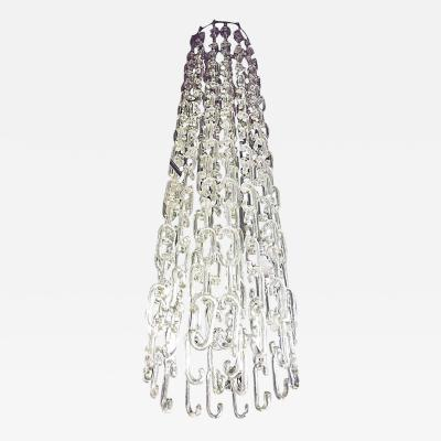Gino Vistosi 8 ft Chain Link Murano Glass Chandelier by Gino Vistosi