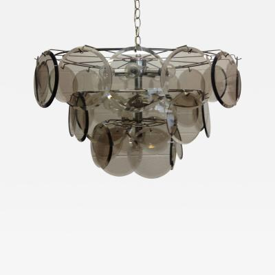 Gino Vistosi Italian Gino Vistosi 36 Disc Chandelier for Murano