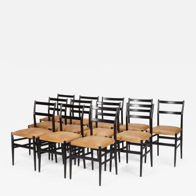 Gio Ponti 12 Gio Ponti Leggera Chairs 50 s