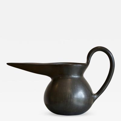 Gio Ponti 1940s Bucchero Vase by Gio Ponti