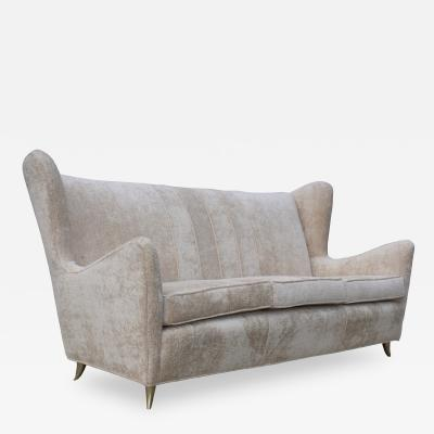 Gio Ponti 1950s Gio Ponti Style Wingback Italian Sofa