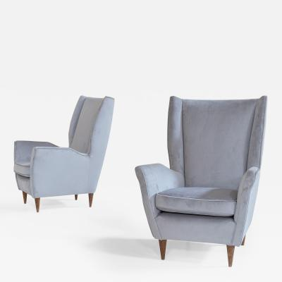 Gio Ponti Armchairs attributed to Gio Ponti for ISA