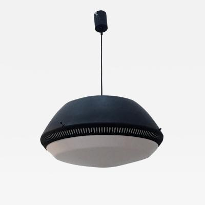 Gio Ponti Black enamelled metal chandelier by Gio Ponti for Greco 1950s