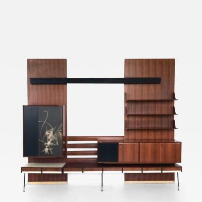 Gio Ponti Bookcase in the Style of Gio Ponti Italy 1950s