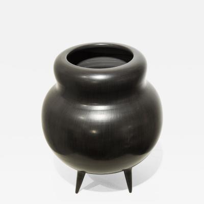 Gio Ponti Bucchero Vase in ceramic by Gio Ponti circa 1950