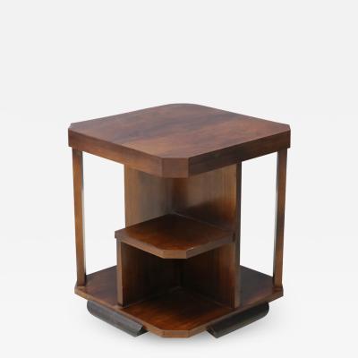 Gio Ponti Coffe Table Art Dec Attributed to Gio Ponti in Walnut 1930s