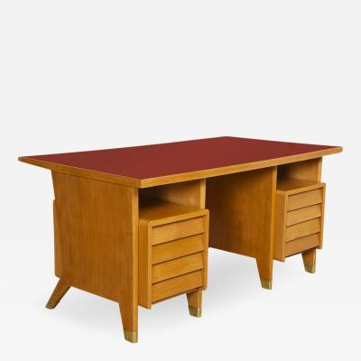 Gio Ponti Custom 8 Drawer Desk by Gio Ponti