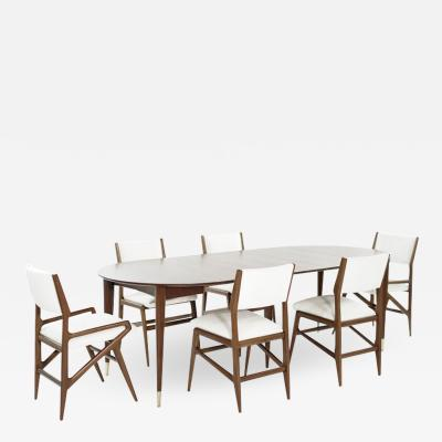 Gio Ponti Dining Room Set by Gio Ponti for M Singer Sons c