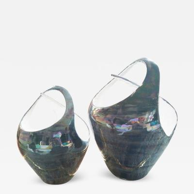 Gio Ponti Due Vasi Intrecciati Ceramica