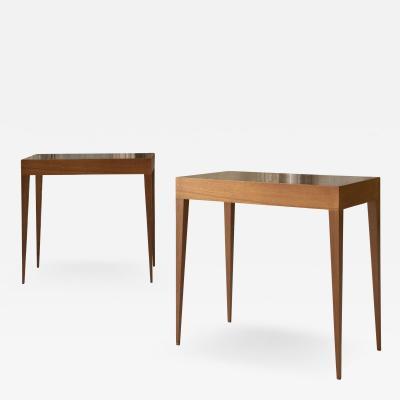 Gio Ponti Elegant Pair of Italian Midcentury Tables in the Style of Gio Ponti