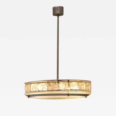 Gio Ponti Elegant italian midcentury chandelier by Fontana Arte
