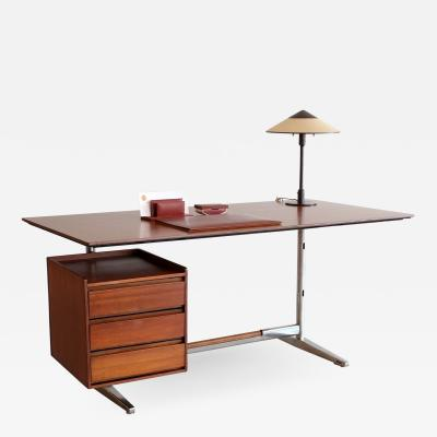 Gio Ponti GIO PONTI ROSEWOOD AND CHROME DESK