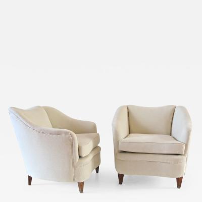 Gio Ponti GIO PONTI pair of white armchairs Casa Giardino circa 1938