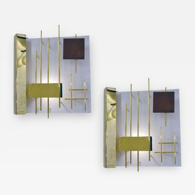 Gio Ponti Geometric Quadri Luminosi Sconces