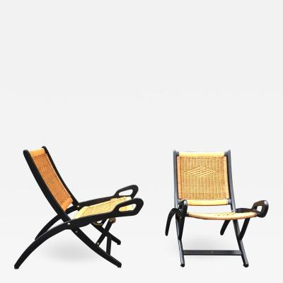 Gio Ponti Gio Ponti 1891 1979 Pair Of Folding Fireside Chairs Ninfea Model