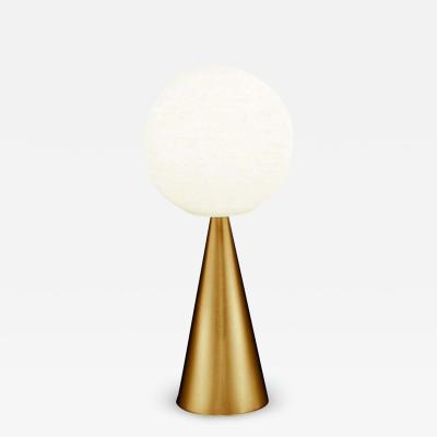 Gio Ponti Gio Ponti Bilia Mini Table Lamp in Brass Blown Glass for Fontana Arte